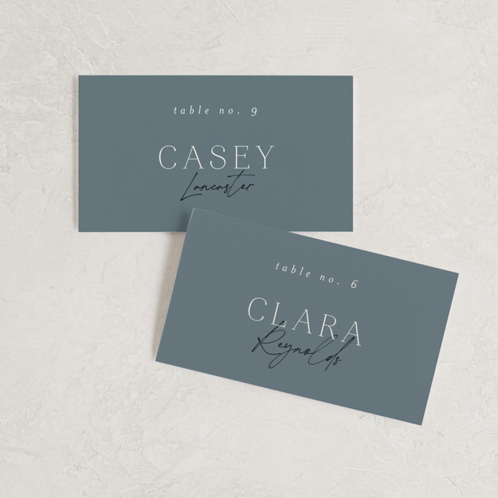 """""""Modern Traditionalist"""" - Wedding Place Cards in Butterscotch by Morgan Kendall."""