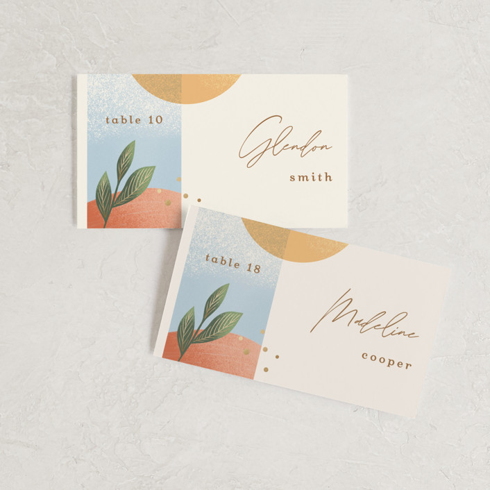 """""""Essence"""" - Modern Wedding Place Cards in Ivory by Laura Bolter."""