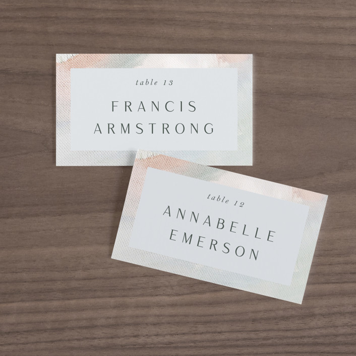 """""""Evelyn"""" - Wedding Place Cards in Capri by Nicole Walsh."""