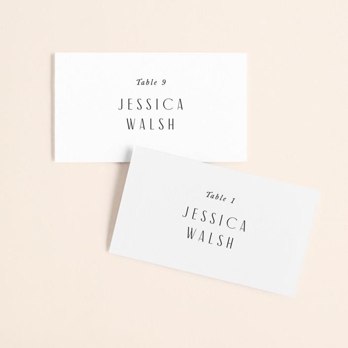 """Arcadia"" - Wedding Place Cards in Onyx by Jennifer Wick."