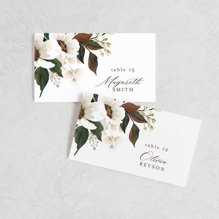 """""""A Garden Wedding"""" - Wedding Place Cards in Magnolia by Chris Griffith."""