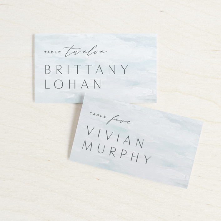 """""""At Sea"""" - Wedding Place Cards in Sky by Nicoletta Savod."""