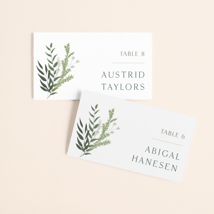 """""""Collection"""" - Wedding Place Cards in Blanco by Kaydi Bishop."""