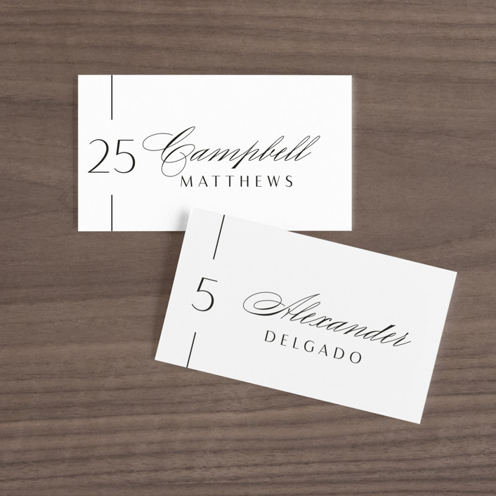 """""""Of Note"""" - Wedding Place Cards in Pearl by Olivia Raufman."""