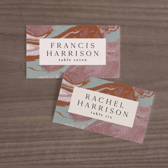 """Jasper"" - Wedding Place Cards in Sandstone by Everett Paper Goods."