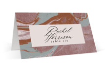 This is a brown wedding place card by Everett Paper Goods called Jasper with standard printing on signature in placecard.