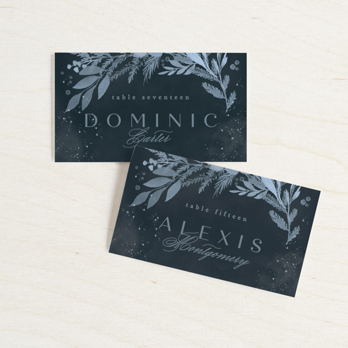 """""""Wonderful Tonight"""" - Wedding Place Cards in Neptune by Creo Study."""