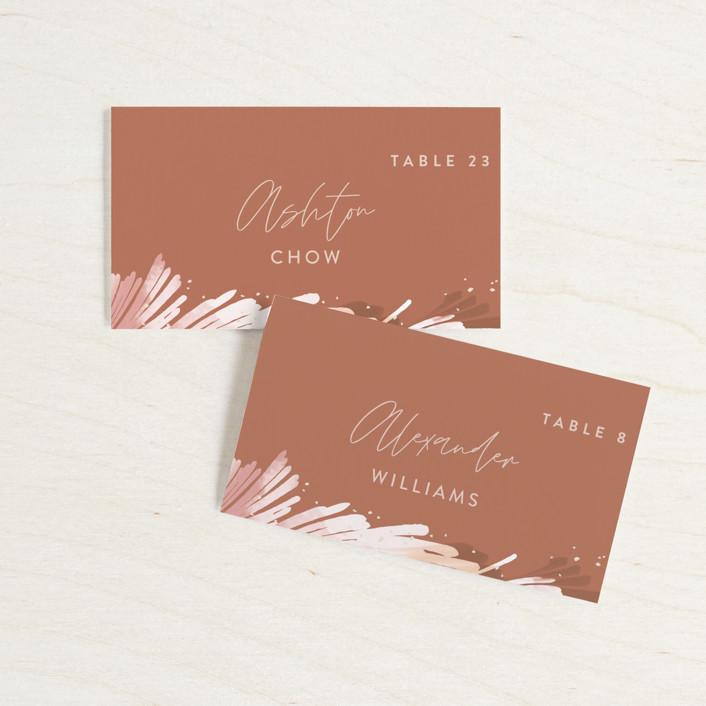 """lush romance"" - Bohemian Wedding Place Cards in Palm by Robin Ott."