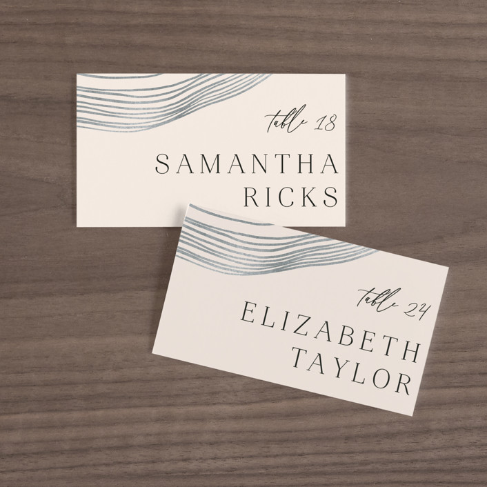 """""""Rings"""" - Modern Wedding Place Cards in Natural by Alethea and Ruth."""
