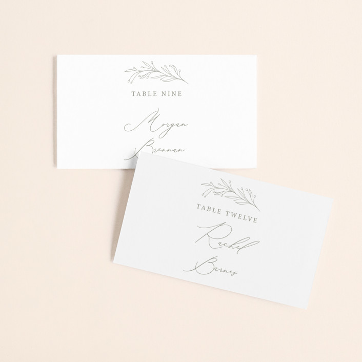 """""""Essential"""" - Wedding Place Cards in Mist by Design Lotus."""