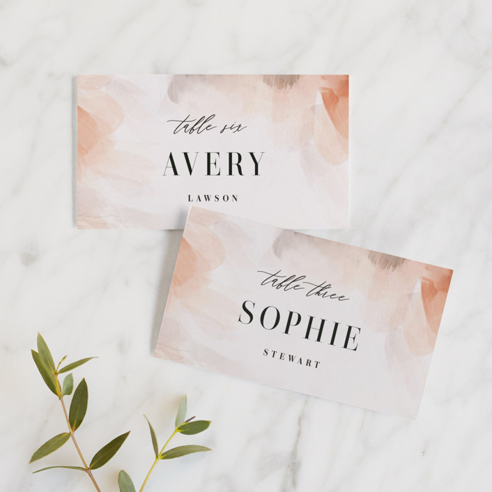 """""""Romantic"""" - Wedding Place Cards in Earth by Lori Wemple."""