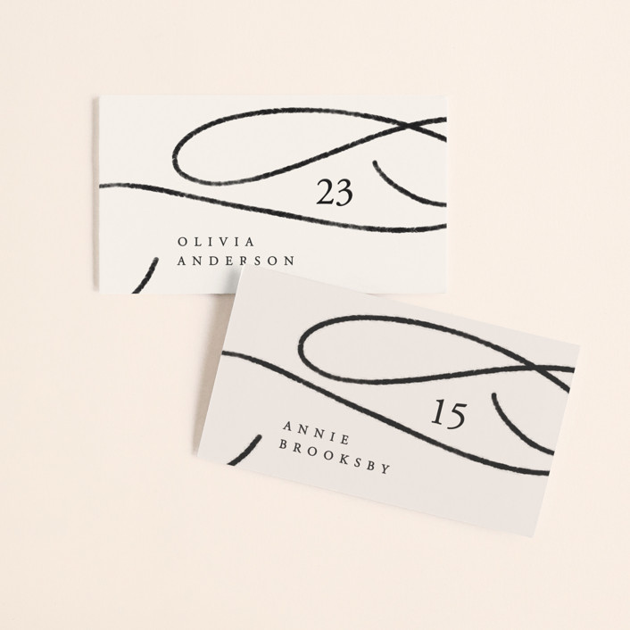 """""""Fountain Pen"""" - Wedding Place Cards in Creme by Erin L. Wilson."""