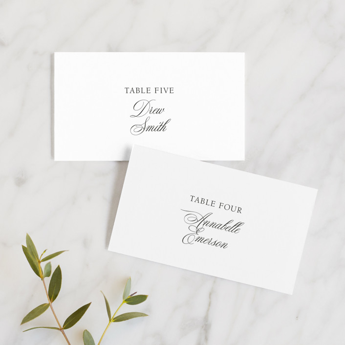 """Legacy"" - Wedding Place Cards in Pure by Design Lotus."
