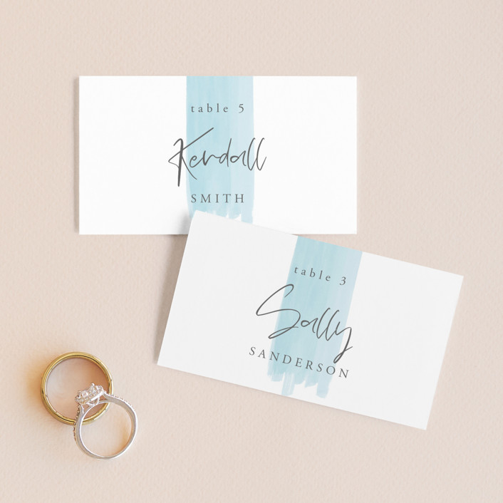 """""""So Delightful"""" - Wedding Place Cards in Sky by Erika Firm."""