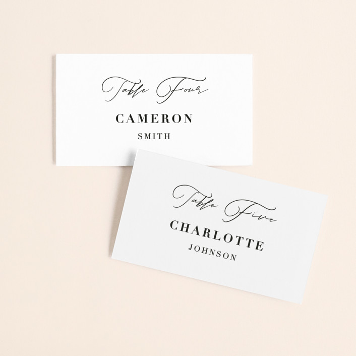"""""""first dance"""" - Wedding Place Cards in Champagne by Kasia Labocki."""
