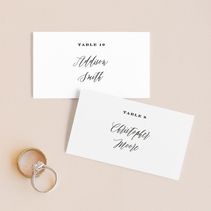 """""""Signed"""" - Wedding Place Cards in Pearl by Roxy Cervantes."""