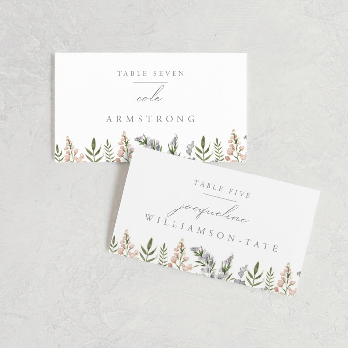 """""""Spring Wildflowers"""" - Wedding Place Cards in Garden by Christie Elise."""