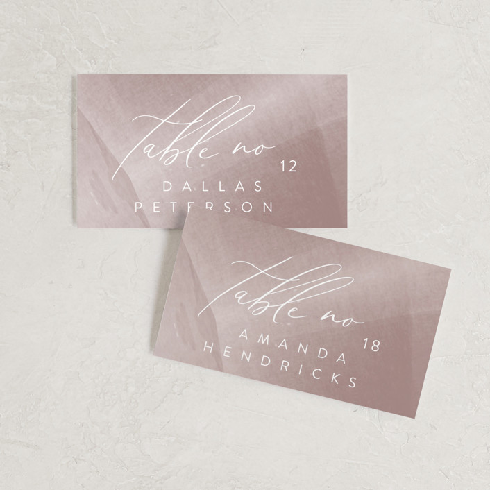"""""""plain paint"""" - Modern Wedding Place Cards in Taupe by Phrosne Ras."""