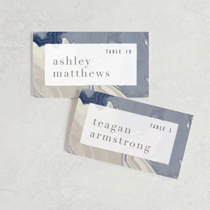 """marble majesty"" - Wedding Place Cards in Mountain Range by Hooray Creative."