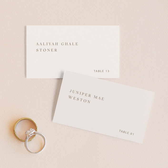 """""""Juniper"""" - Wedding Place Cards in Blush by Mere Paper."""