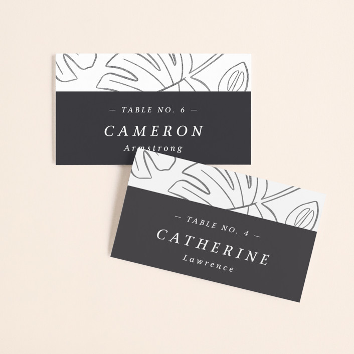 """Crescendo"" - Wedding Place Cards in Snow by Griffinbell Paper Co.."