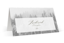 This is a brown wedding place card by chocomocacino called torrone with standard printing on signature in placecard.