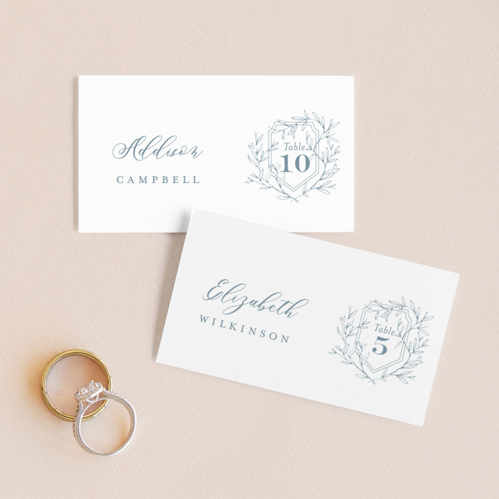 """""""Love Beyond Measure"""" - Wedding Place Cards in Mineral by Oscar & Emma."""
