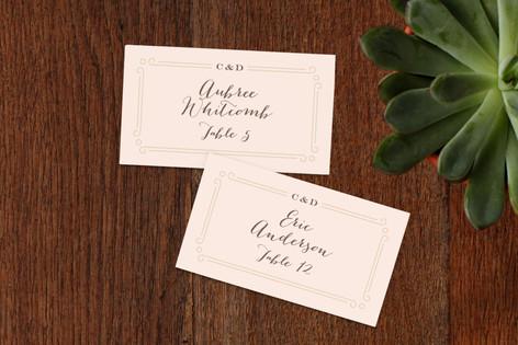 Art Deco Filigree Wedding Place Cards