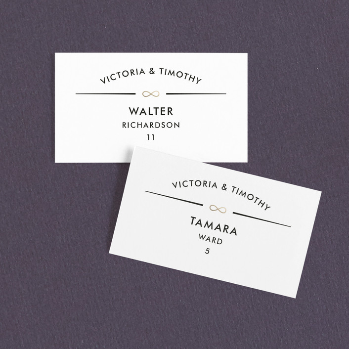 """""""We are Infinite"""" - Modern, Whimsical & Funny Wedding Place Cards in Tuxedo by katrina gem."""