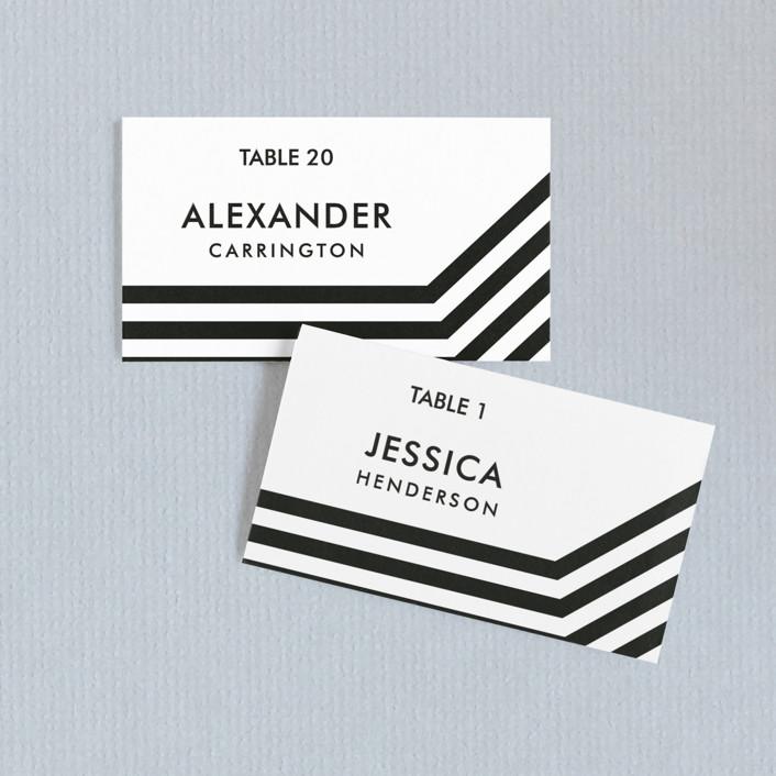 """""""Desenfadado"""" - Wedding Place Cards in Black Ink by Aspacia Kusulas."""