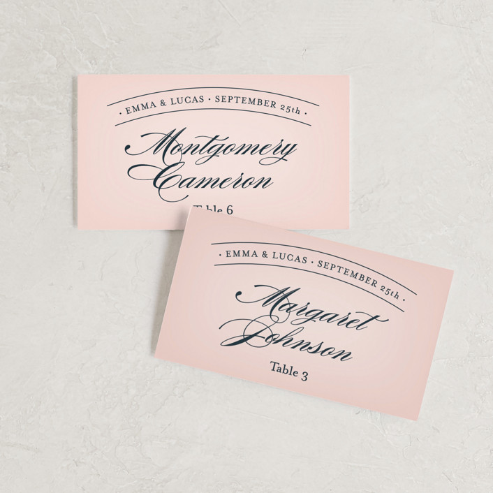 """Big City - San Francisco"" - Wedding Place Cards in Blush by Hooray Creative."