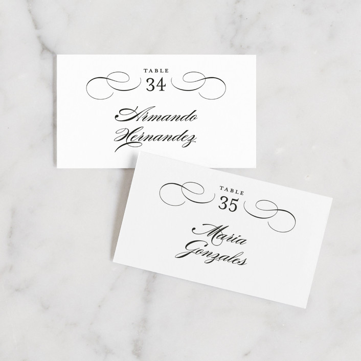 """""""Formal Ink"""" - Wedding Place Cards in Black Tie by Jill Means."""