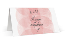 This is a pink wedding place card by Kristie Kern called Bliss with standard printing on signature in placecard.