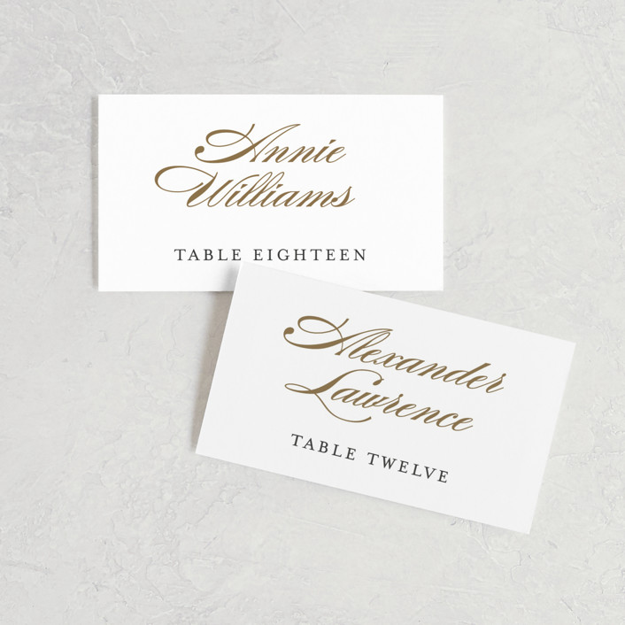 """Flourish"" - Wedding Place Cards in Antique by Jennifer Postorino."