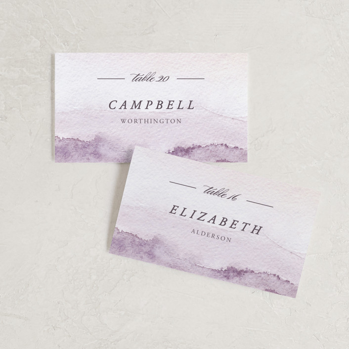 """mountain wedding"" - Wedding Place Cards in Sunrise by Anastasia Makarova."
