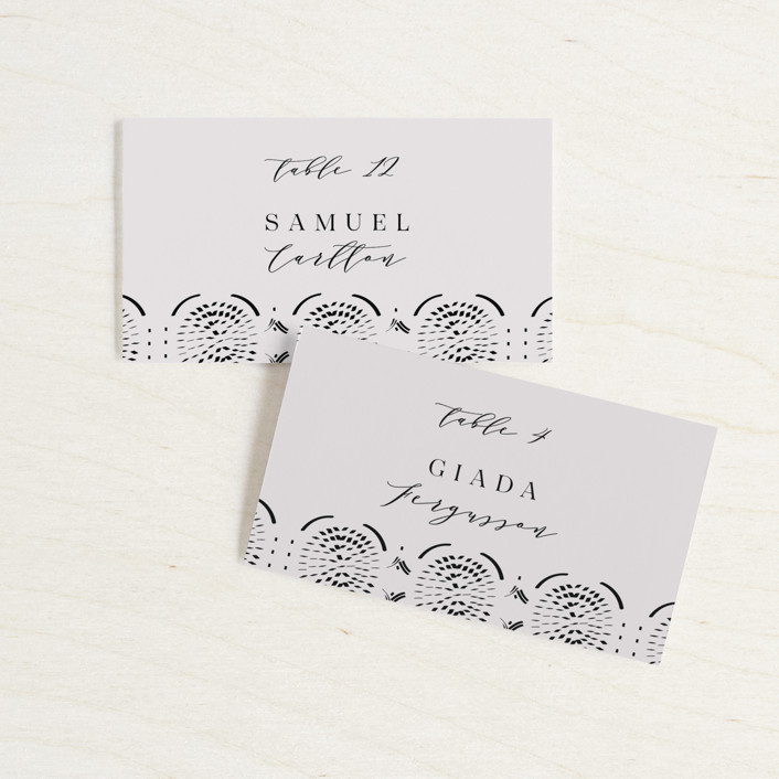 """""""Terracotta"""" - Bohemian Wedding Place Cards in Rust by Kanika Mathur."""