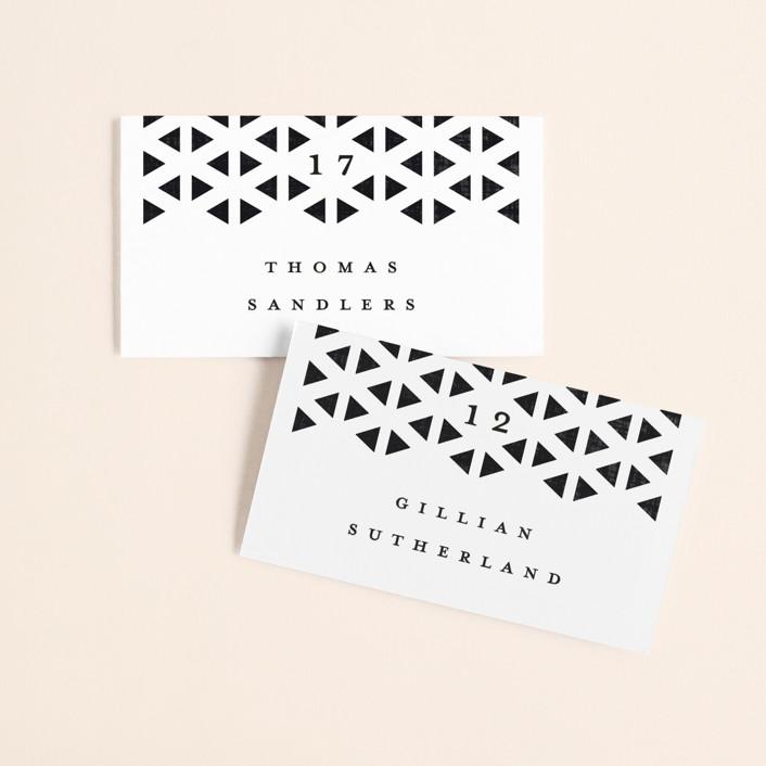 """""""Beau tied"""" - Modern Wedding Place Cards in Tuxedo by Gwen Bedat."""