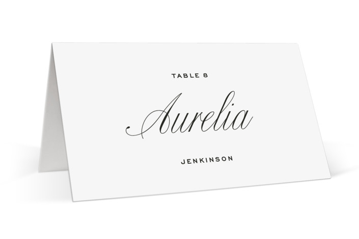 Stacked Script Place Cards