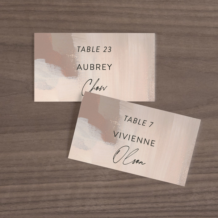 """""""Gallery"""" - Wedding Place Cards in Mojito by Lindsay Megahed."""