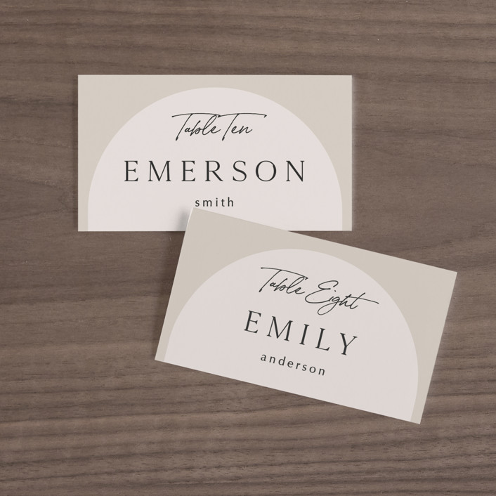 """""""the arch"""" - Modern Wedding Place Cards in Stone by Elly."""