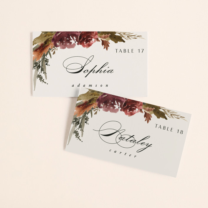 """""""poetique"""" - Wedding Place Cards in Autumn by Kate Ahn."""