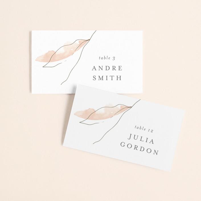 """Autumn Euphoria"" - Wedding Place Cards in Autumn Kiss by Design Lotus."