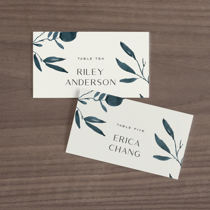 """""""Adore You"""" - Wedding Place Cards in Great Lakes by Design Lotus."""