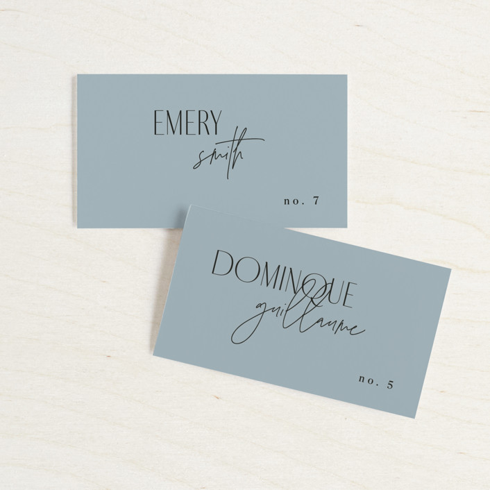 """""""Layered"""" - Wedding Place Cards in Cloud by Kelly Schmidt."""