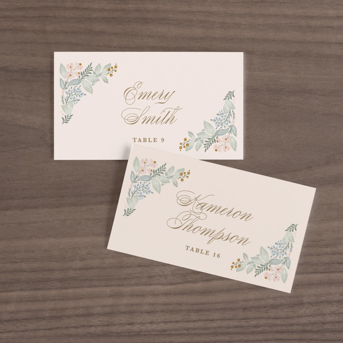 """""""Wild Flora"""" - Wedding Place Cards in Blossom by Kristen Smith."""