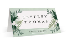 wedding place cards minted