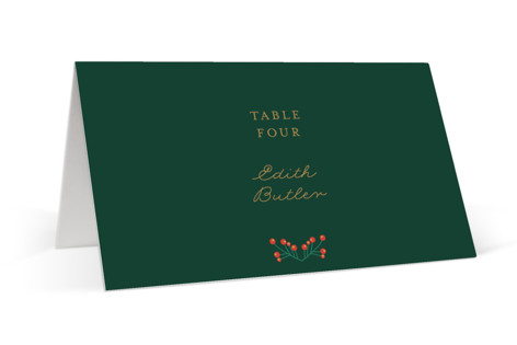 Holiday Wedding Place Cards