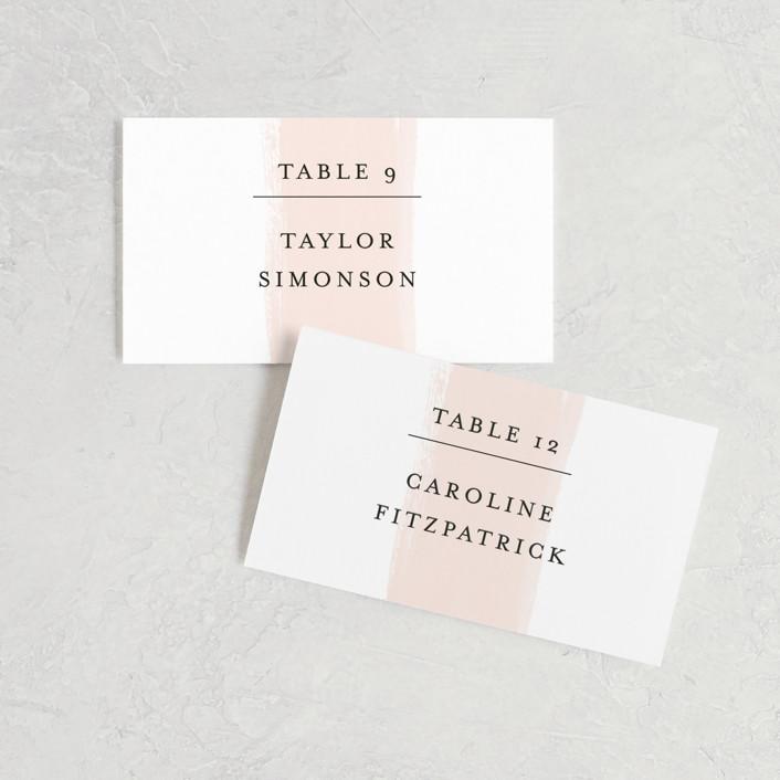 """Single Swath"" - Wedding Place Cards in Blush by Angela Marzuki."