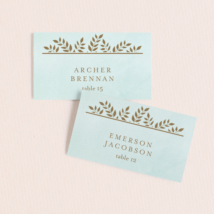 """Elegant Lines"" - Vintage Wedding Place Cards in Sky by Chris Griffith."