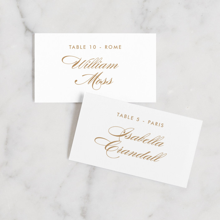 """""""Fashion District"""" - Wedding Place Cards in Black Tie by Jill Means."""